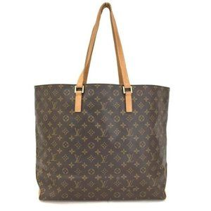 Auth Louis Vuitton Monogram Cabas Alto Tote Bag